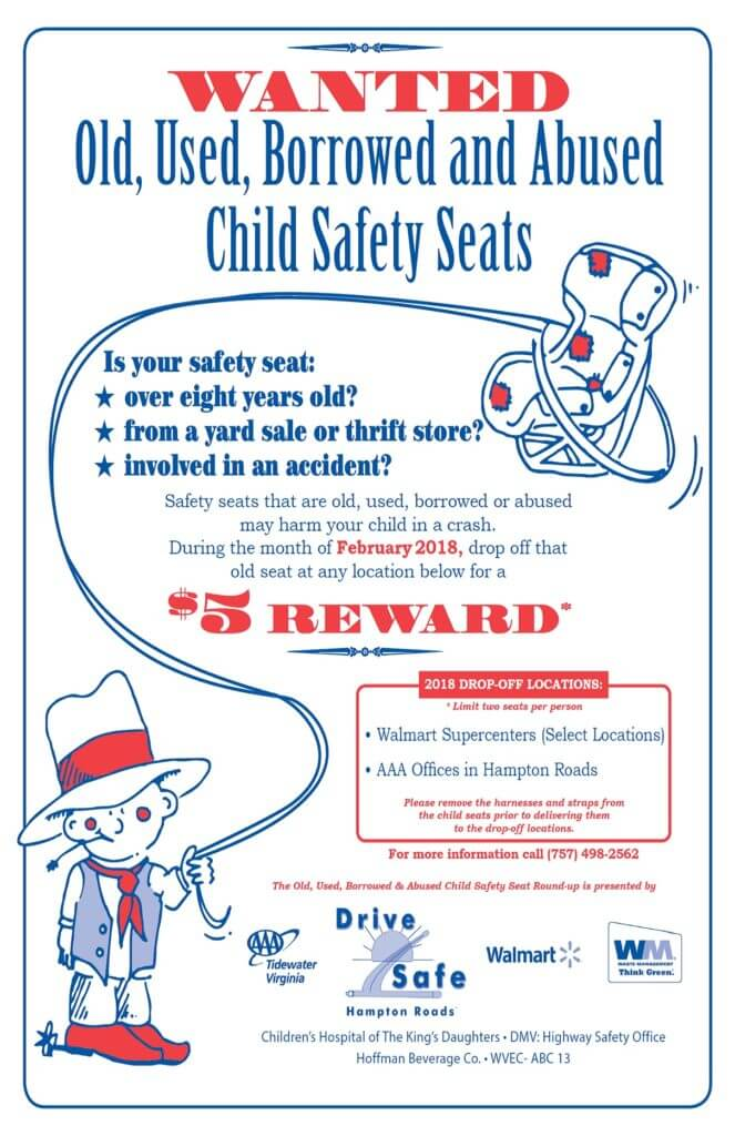 Child Safety Seats are Rounded-up during the month of February